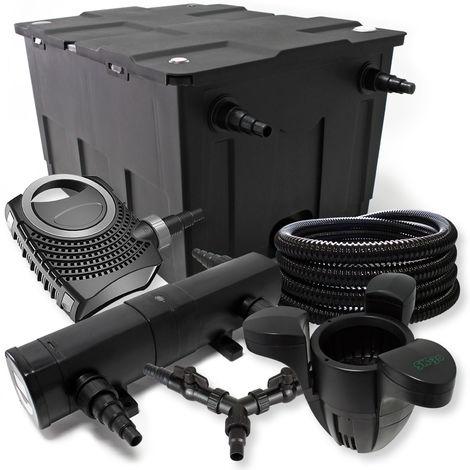 SunSun filtros 60000l Estanque 36W Clarificador neo1000080W Bomba 25m Manguera Skimmer SK30