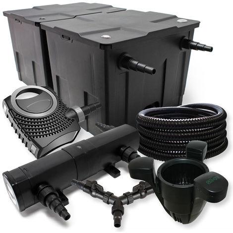 SUNSUN filtros 60000l Estanque 36W Clarificador neo1000080W Bomba 25m Manguera Skimmer SK40