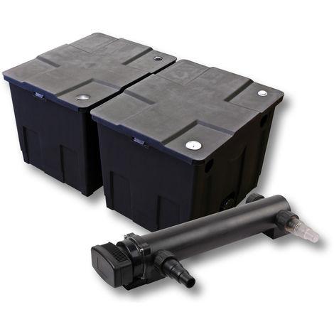 SunSun Kit de filtración de estanque 60000l 36W UVC 3. Clarificador jardin