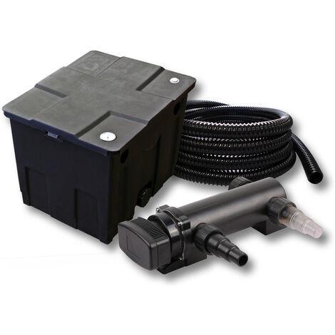 SunSun Kit de filtration de bassin 12000l 18W UVC 3. Stérilisateur et 5m Tuyau