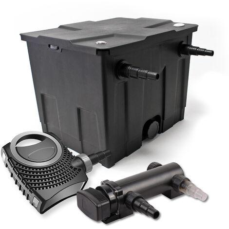SunSun Kit de filtration de bassin 12000l 18W UVC 3. Stérilisateur et NEO7000 50W Pompe