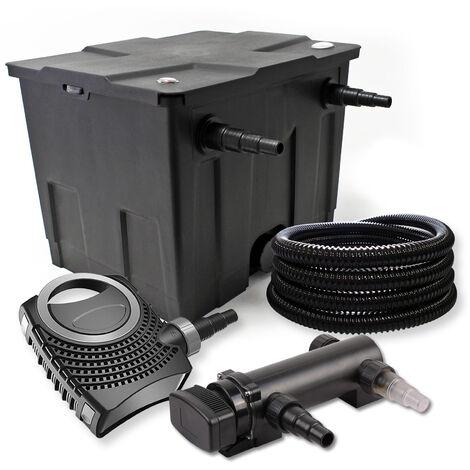 SunSun Kit de filtration de bassin 12000l 18W UVC 3. Stérilisateur NEO7000 50W Pompe et Tuyau