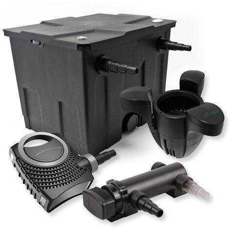 SunSun Kit de filtration de bassin 12000l 18W UVC 3. Stérilisateur NEO8000 70W Pompe Skimmer