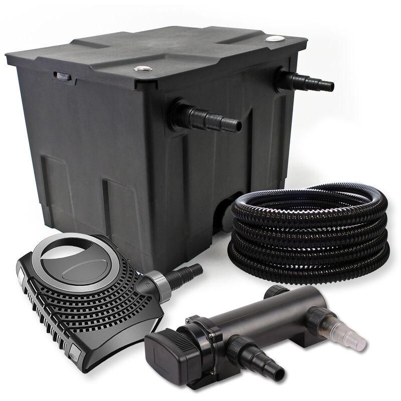 Wiltec - SunSun Kit de filtration de bassin 12000l 18W UVC 3. Stérilisateur NEO8000 70W Pompe Tuyau