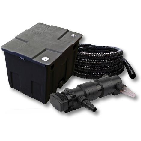 SunSun Kit de filtration de bassin 12000l 18W UVC 6. Stérilisateur et 5m Tuyau