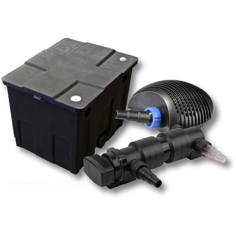 SunSun Kit de filtration de bassin 12000l 18W UVC 6. Stérilisateur et NEO7000 50W Pompe
