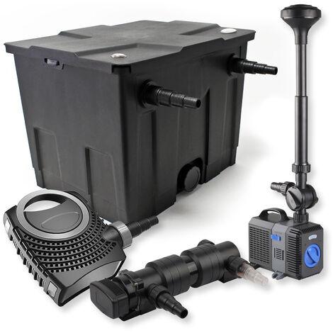 SunSun Kit de filtration de bassin 12000l 18W UVC Stérilisateur NEO8000 70W Pompe Fontaine
