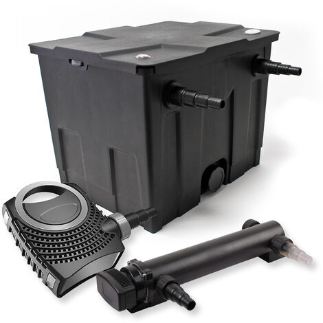 SunSun Kit de filtration de bassin 12000l 24W UVC 3. Stérilisateur et NEO7000 50W Pompe