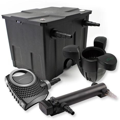 SunSun Kit de filtration de bassin 12000l 24W UVC 3. Stérilisateur NEO7000 50W Pompe et Skimmer