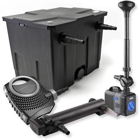 SunSun Kit de filtration de bassin 12000l 24W UVC Stérilisateur NEO7000 50W Pompe Fontaine