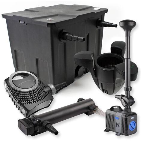 SunSun Kit de filtration de bassin 12000l 24W UVC Stérilisateur NEO8000 70W Pompe Fontaine Skimmer