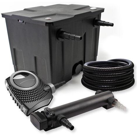 SunSun Kit de filtration de bassin 12000l 36W UVC 3. Stérilisateur NEO10000 80W Pompe Tuyau