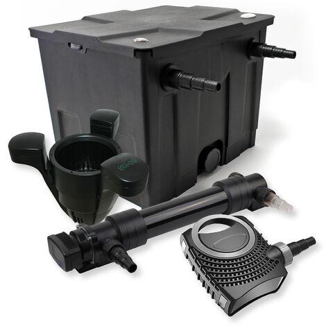 SunSun Kit de filtration de bassin 12000l 36W UVC 6. Stérilisateur NEO8000 70W Pompe Skimmer