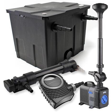 SunSun Kit de filtration de bassin 12000l 36W UVC Stérilisateur NEO8000 70W Pompe Fontaine