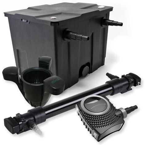 SunSun Kit de filtration de bassin 12000l 72W UVC 6. Stérilisateur NEO10000 80W Pompe Skimmer
