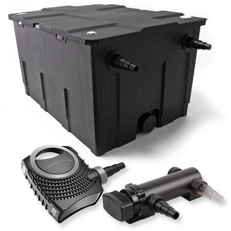 SunSun Kit de filtration de bassin 60000l 18W UVC 3. Stérilisateur et NEO7000 50W Pompe