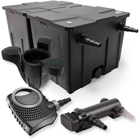 SunSun Kit de filtration de bassin 60000l 18W UVC 3. Stérilisateur NEO7000 50W Pompe et Skimmer