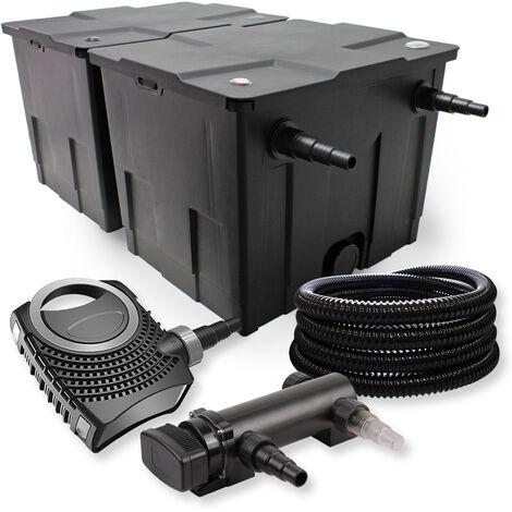 SunSun Kit de filtration de bassin 60000l 18W UVC 3. Stérilisateur NEO7000 50W Pompe et Tuyau