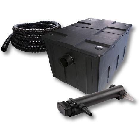 SunSun Kit de filtration de bassin 60000l 24W UVC 3. Stérilisateur et 5m Tuyau