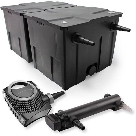 SunSun Kit de filtration de bassin 60000l 24W UVC 3. Stérilisateur et NEO7000 50W Pompe