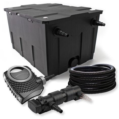 SunSun Kit de filtration de bassin 60000l 24W UVC 6. Stérilisateur NEO7000 50W Pompe et Tuyau