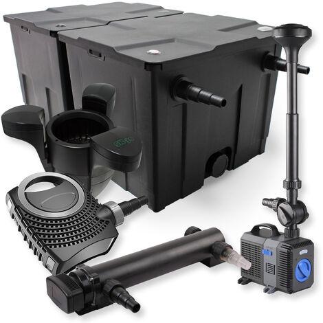 SunSun Kit de filtration de bassin 60000l 24W UVC Stérilisateur NEO7000 50W Pompe Fontaine Skimmer