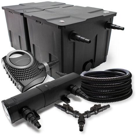 SunSun Kit de filtration de bassin 60000l 36W Stérilisateur NEO8000 70W Pompe 25m Tuyau