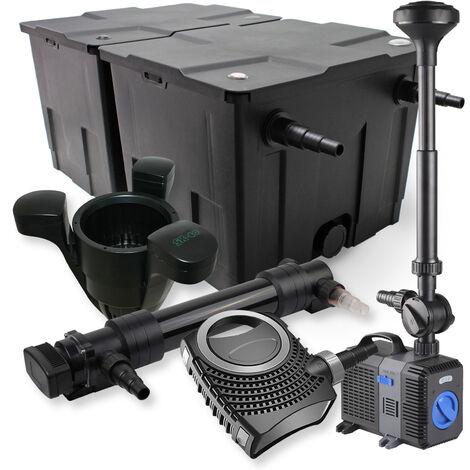SunSun Kit de filtration de bassin 60000l 36W UVC Stérilisateur 80W Pompe Fontaine Skimmer