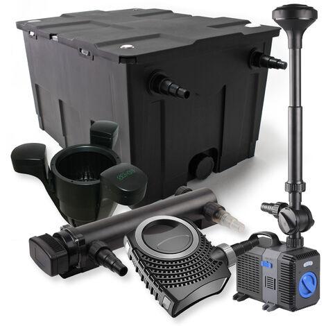SunSun Kit de filtration de bassin 60000l 36W UVC Stérilisateur NEO10000 80W Pompe Fontaine Skimmer