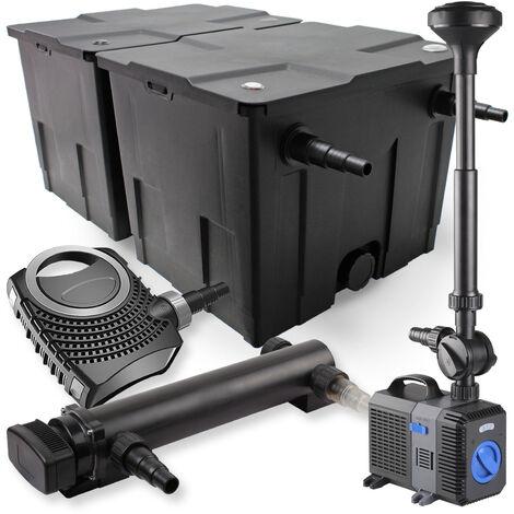 SunSun Kit de filtration de bassin 60000l 36W UVC Stérilisateur NEO8000 Pompe 70W Fontaine