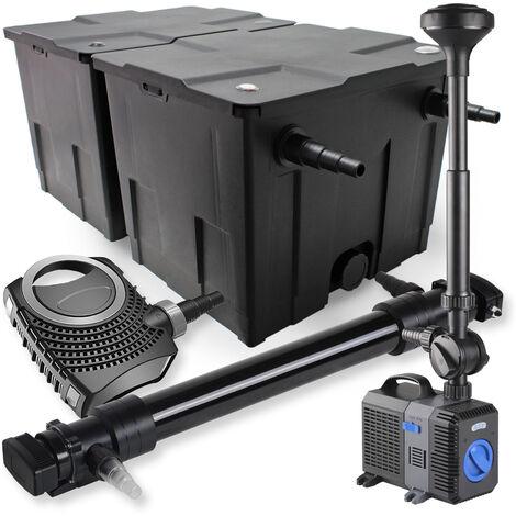 SunSun Kit de filtration de bassin 60000l 72W UVC Stérilisateur NEO10000 80W Pompe Fontaine