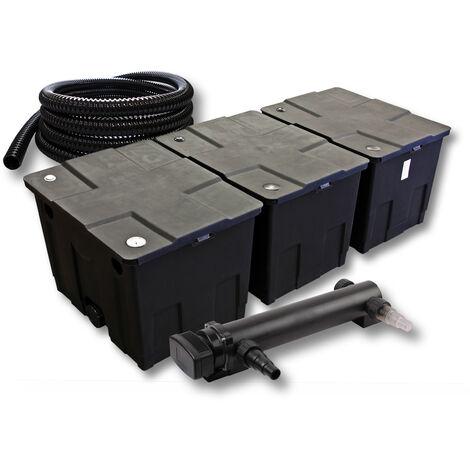 SunSun Kit de filtration de bassin 90000l 24W UVC 3. Stérilisateur et 5m Tuyau