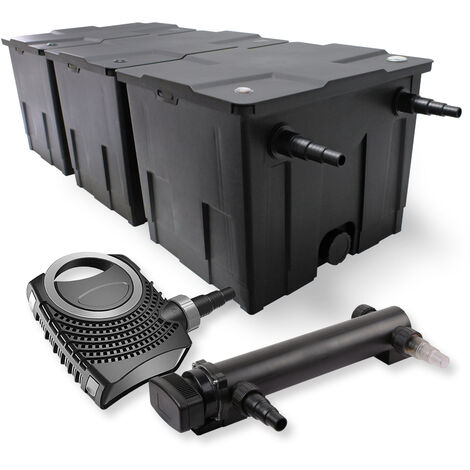 SunSun Kit de filtration de bassin 90000l 24W UVC 3. Stérilisateur et NEO7000 50W Pompe