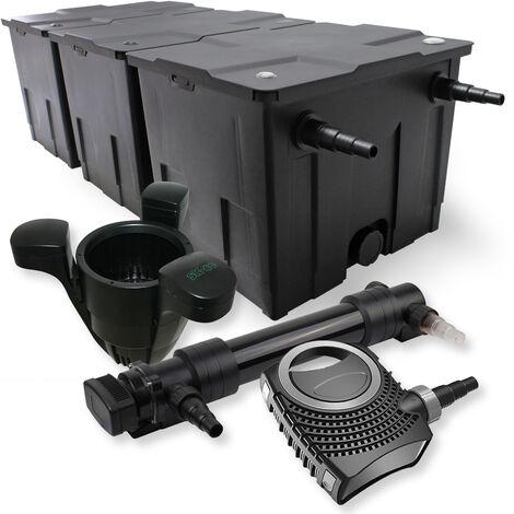 SunSun Kit de filtration de bassin 90000l 36W UVC 6. Stérilisateur NEO10000 80W Pompe Skimmer