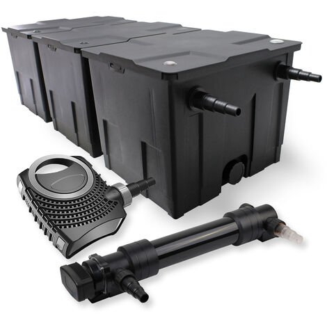 SunSun Kit de filtration de bassin 90000l 36W UVC 6. Stérilisateur NEO8000 Pompe 70W