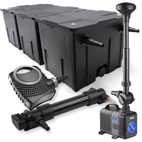 SunSun Kit de filtration de bassin 90000l 36W UVC Stérilisateur NEO10000 80W Pompe Fontaine