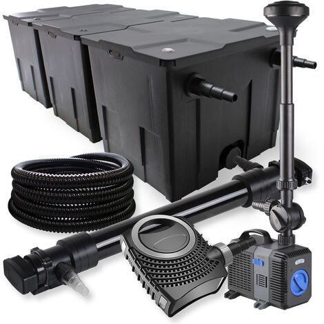 SunSun Kit de filtration de bassin 90000l 72W UVC Stérilisateur 80W Pompe Tuyau Fontaine