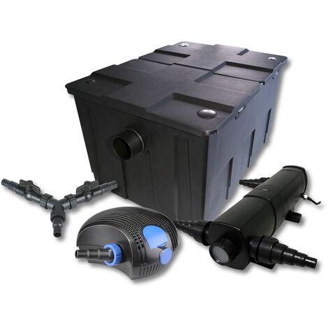 SunSun Kit de filtration de bassin pour 60000l avec 36W Stérilisateur et 100W éco Pompe