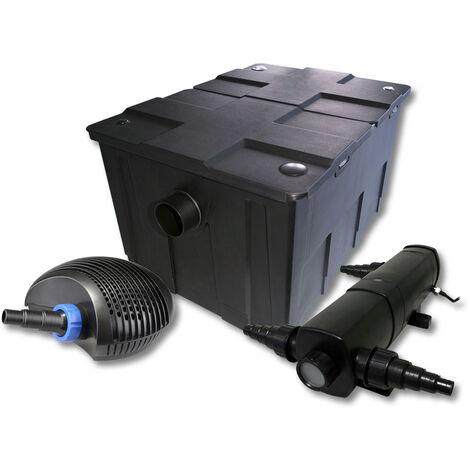 SunSun Kit de filtration de bassin pour 60000l avec 36W Stérilisateur et 40W éco Pompe