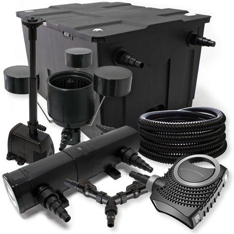 SunSun Kit Filtración estanque 60000l 24W clarificador neo800070W bomba 25m manguera skimmer fuente