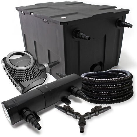 SunSun Kit filtration bassin 60000l 24W Stérilisateur NEO10000 80W Pompe 25m Tuyau