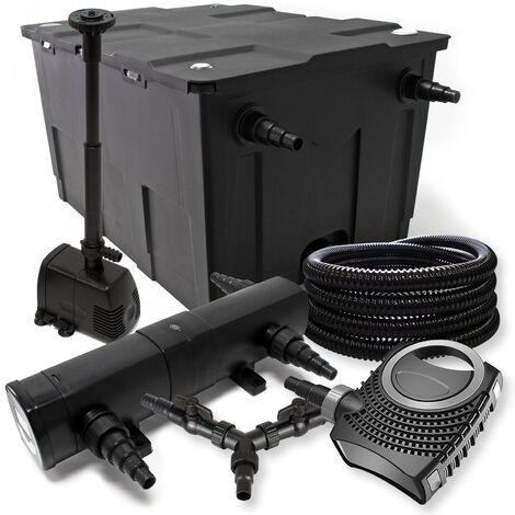 SunSun Kit filtration bassin 60000l 24W Stérilisateur NEO10000 80W Pompe 25m Tuyau Fontaine