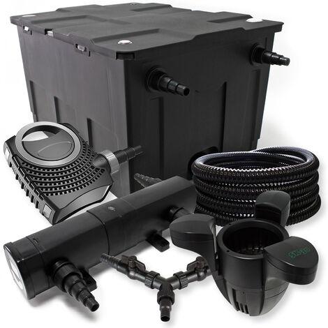SunSun Kit filtration bassin 60000l 36W Stérilisateur NEO10000 80W Pompe 25m Tuyau Skimmer SK30