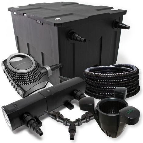 SunSun Kit filtration bassin 60000l 36W Stérilisateur NEO10000 80W Pompe 25m Tuyau Skimmer SK40