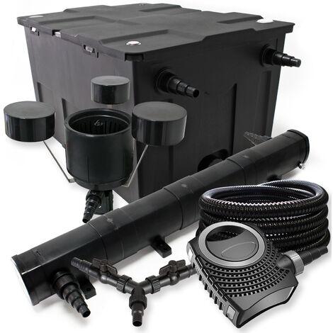 SunSun Kit filtration bassin 60000l 72W Stérilisateur NEO10000 80W Pompe 25m Tuyau Skimmer