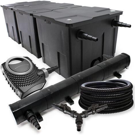 SunSun Kit filtration bassin 90000l 72W Stérilisateur NEO10000 80W Pompe 25m Tuyau