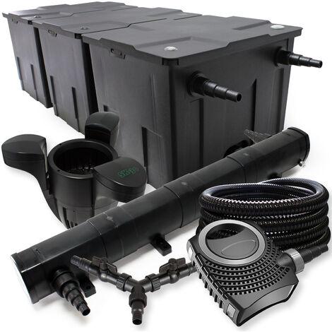 SunSun Kit filtration bassin 90000l 72W Stérilisateur NEO10000 80W Pompe 25m Tuyau Skimmer SK30