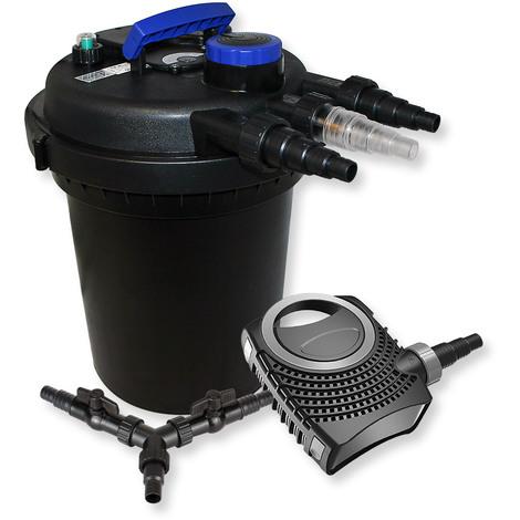 SunSun Kit filtration bassin à pression 10000l 11W UVC Stérilisateur NEO8000 70W Pompe