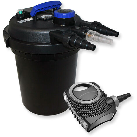 SunSun Kit filtration bassin à pression 6000l 11W UVC Stérilisateur NEO8000 70W Pompe