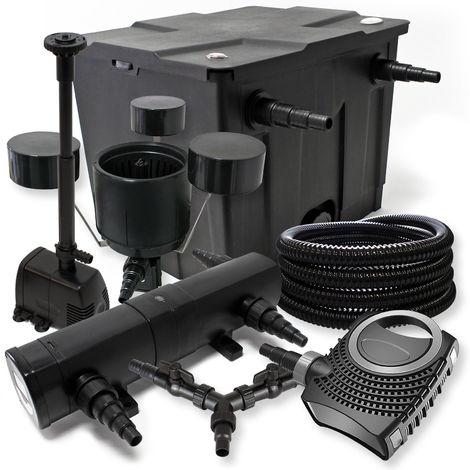 SUNSUN Kit filtro 12000L Estanque 36W Clarificador neo800025m Manguera Skimmer csp250 fuente